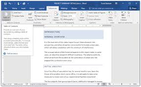 create table of contents in word in easy steps how to create a table of contents in word 2016 in
