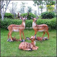 fawn baby deer outdoor garden statue resin animal lawn decor buy