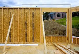 wood framed wood construction frame stick built frame temporary support