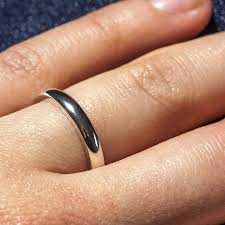 3mm ring sterling silver personalised 3mm d shape ring by the jewellery