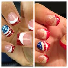 diy acrylic 4th of july nails a day in the life of crafty fibro