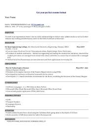 engineering resume format pdf electrical engineer resume objective