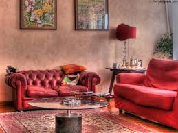 vrooms beautiful red living room design