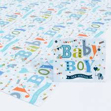 baby boy wrapping paper baby boy luxury wrapping paper gift tag only 69p