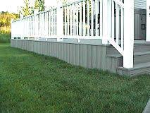 interesting deck skirting we did ours similar but our boards are