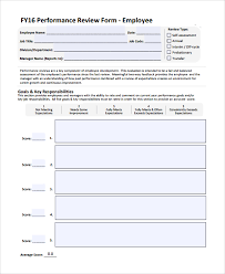 performance review template free employee performance review
