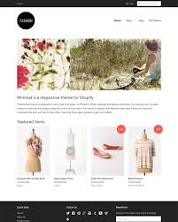 Online Clothing Store Website Builder Fashion Theme Minimal Ecommerce Website Template