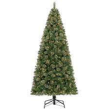 c27 10 ft pre lit fir tree at home at home