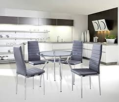 metal frame table and chairs amazon com 5 piece home dining kitchen furniture set metal frame