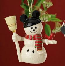 disney mickey mouse snowman ornament by lenox mickey fix