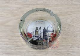 exported uk glass ashtray small gift memorial cendrier