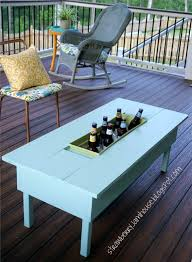coffee table with cooler how to build or upgrade an outdoor table with built in cooler diy