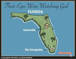 Florida Everglades Map by Map In Their Eyes Were Watching God Chart