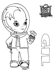 free printable monster doll coloring pages baby printables