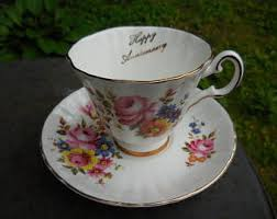 gold trim teacup etsy