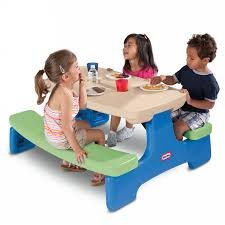 easy store picnic table blue green
