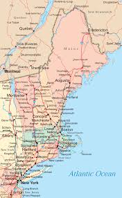 New England On The Map by New England Map Map Travel Holiday Vacations