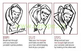bungees hair ponytail holder hooks hair elastic loop with hook hair bungee hook
