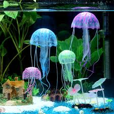 Nice Glowing Effect Silicone Artificial Jellyfish Fish Tank