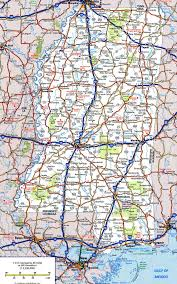Highway Map Of Usa by Highway And Road Of Mississippifree Maps Of Us