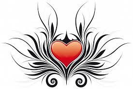 free heart tattoo designs