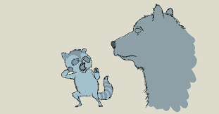 monday sketch raccoon about to punch bear in mouth blendo news