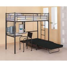 Black Metal Futon Bunk Bed Loft Bunk Bed With Futon And Desk Best Home Furniture Design