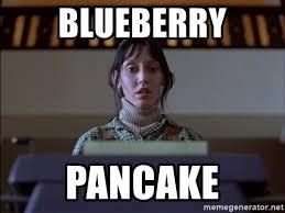 Typewriter Meme - blueberry pancake shining typewriter meme generator
