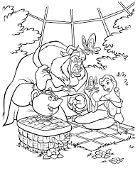 beauty and beast 2 coloringcolor com