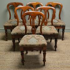 Antique Dining Sets Set Of Six Victorian Mahogany Antique Dining Chairs C 1870