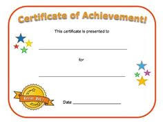 free printable certificates of achievement a4 landscape