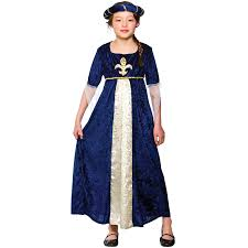 s girls tudor princess costume for medieval fancy dress childrens