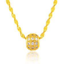 gold bead pendant necklace images High quality 24 k good luck gold cubic zirconia beads pendant with jpg