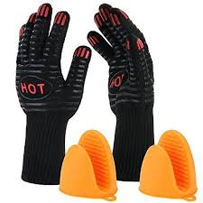 gant cuisine silicone deik gants de cuisson mitaines de four 300 c gant barbecue gants