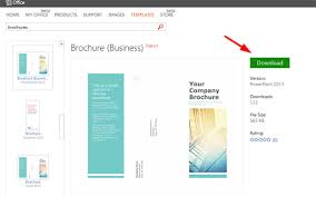 publisher brochure templates powerpoint brochure templates free