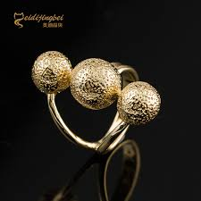 ball rings images Ball shape rings for girls gold silver color cocktail ring female jpg