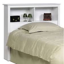White Bookcase Headboard Twin Prepac Sonoma White Twin Bookcase Headboard Beyond Stores