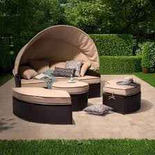 Patio Daybeds For Sale Harrison 4 Piece All Weather Wicker Patio Daybed With Canopy Set