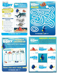 free finding dory straw topper printable kids activities