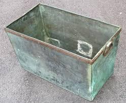 Metal Planter Box by Copper Planter Box At 1stdibs