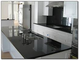 White Kitchen Cabinets With Black Granite Kitchen With Black Countertops For Design Home And