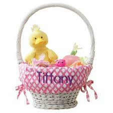 personalized wicker easter baskets personalized easter baskets for kids lillian vernon