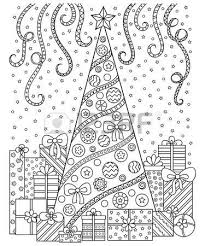 3 791 christmas coloring stock illustrations cliparts