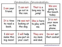 46 best slp contractions freebies images on pinterest teaching
