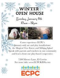 winter open house el cerrito preschool cooperative play learn