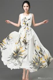 2015 new women summer boho maxi dress print floral evening