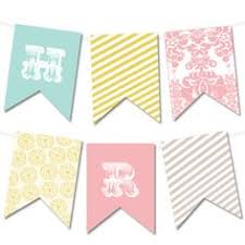 Shabby Chic Banner by Banner Flag Pink Mint Shabby Chic Banner Bunting Pennant