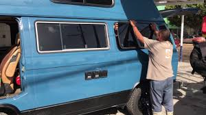 volkswagen vanagon blue 1982 volkswagen vanagon westfalia rear window removal youtube