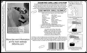365drills diamond drilling kits core drills holesaws drill