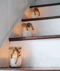 Diy Mason Jar Christmas Decorations by Christmas Mason Jar Stairs Decorations